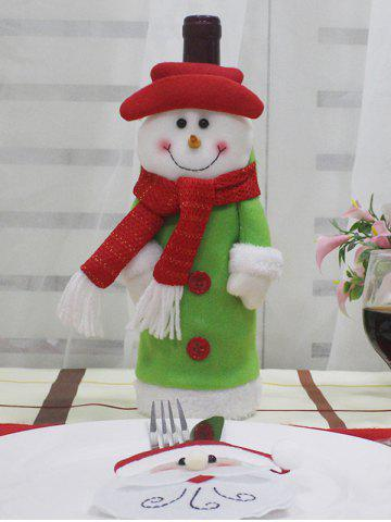 Christmas Theme Pattern Wine Bottle Cover