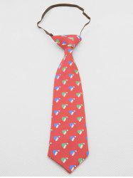Christmas Hat Pattern Kids Necktie -