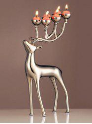 Christmas Elk Shape Candle Holder with Candles -