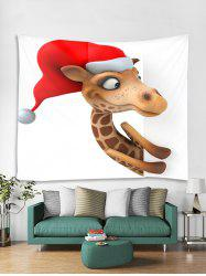 Christmas Giraffe Print Tapestry Wall Hanging Art Decoration -