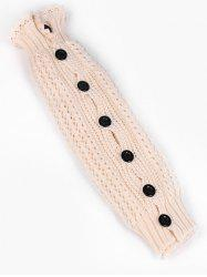 Buttons Side Lace Knitted Leg Warmers -