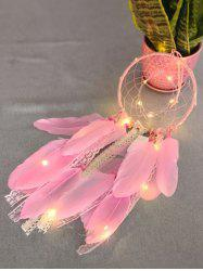 Feathers Handmade Dream Catcher with LED String Light -