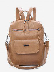 Large Capacity Design PU School Backpack -