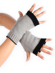Winter Color Block Fingerless Gloves -