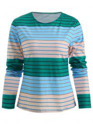 Color Block Stripe T-shirt -