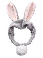 Rabbit Ears Design Fluffy Cosmetic Hair Band -