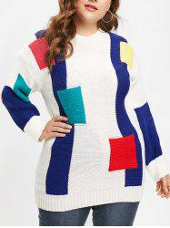 Plus Size Drop Shoulder Longline Sweater -