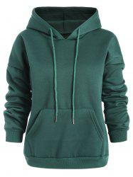Plus Size Solid Pullover Hoodie -