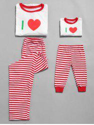 Letter Print Plus Size Christmas Pajama Set for Mom Kids -