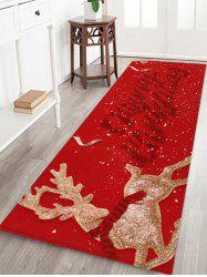 Merry Christmas Deer Printed Floor Mat -