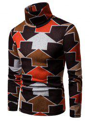 Arrows Printed High Neck Sweater -