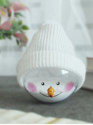 Christmas Tree Decoration Hatted Snowman Ball -