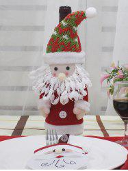 Christmas Theme Pattern Wine Bottle Cover -