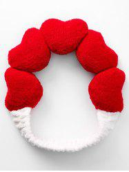 Heart Pattern Sport Fluffy Hair Band -