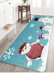 Christmas Snowman Family Pattern Water Absorption Area Rug -