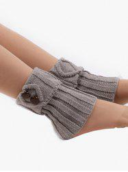 Buttons Side Flanging Short Leg Warmers -