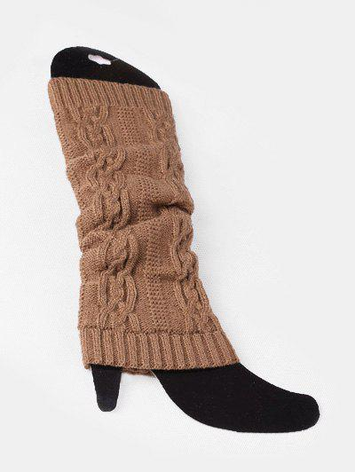 Outfits Winter Solid Color Knitting Leg Warmers