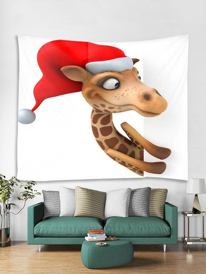 Best Christmas Giraffe Print Tapestry Wall Hanging Art Decoration