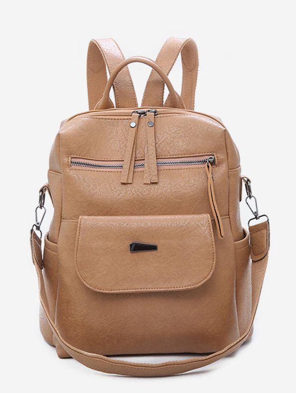 Shops Large Capacity Design PU School Backpack