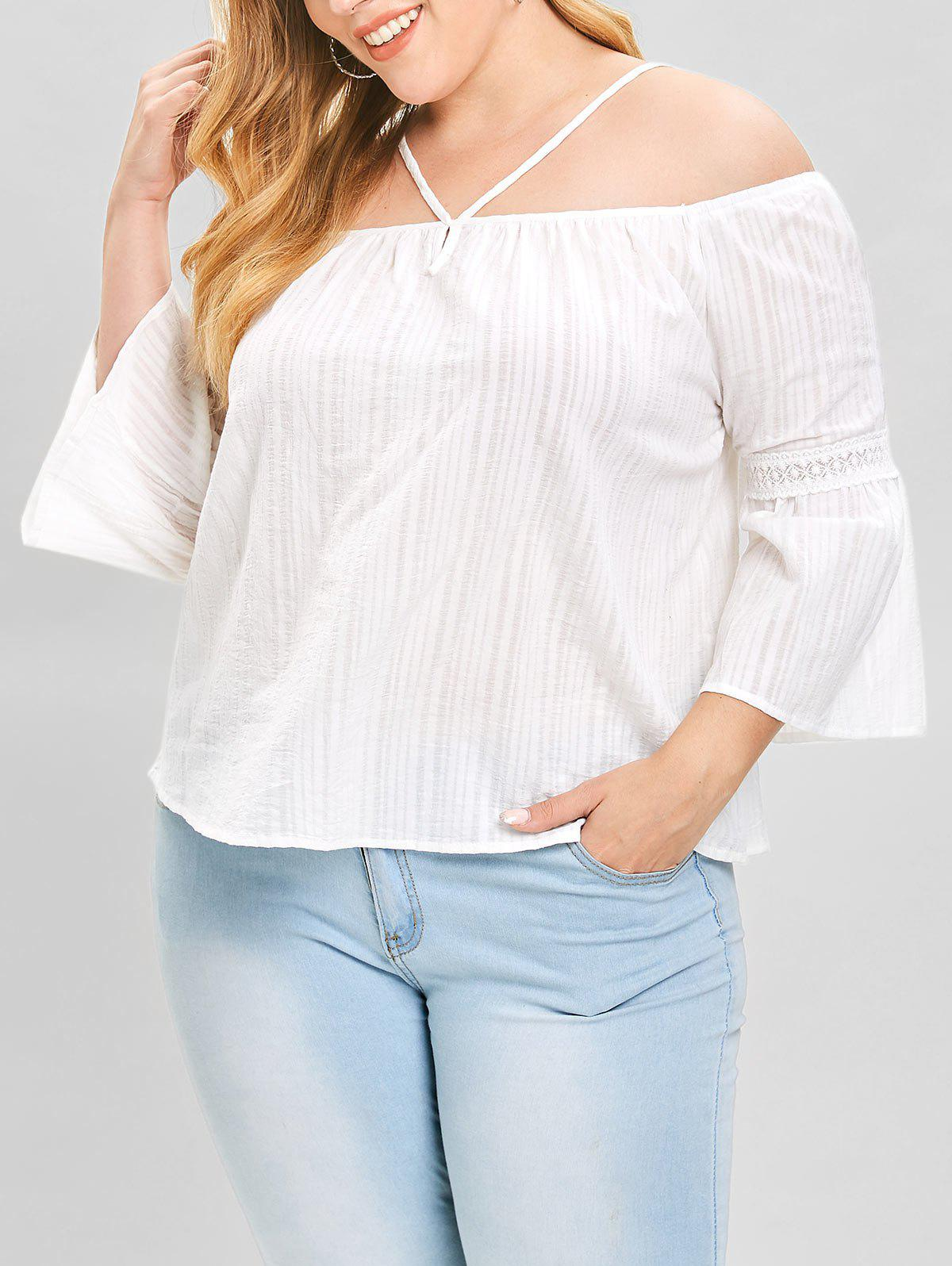 Chic Plus Size Cold Shoulder Top with Lace