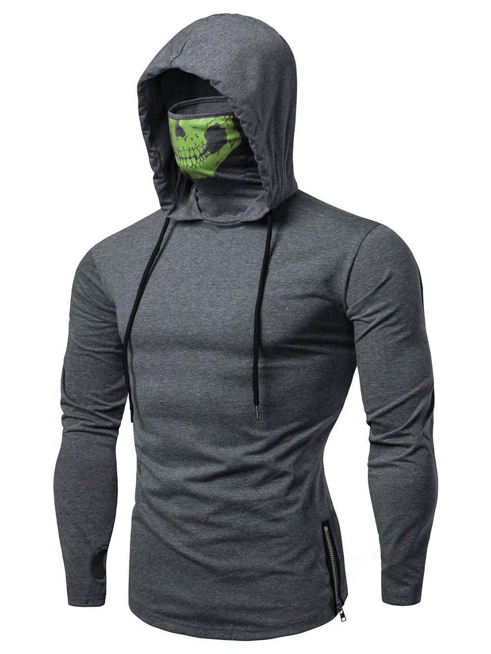 7e145671 56% OFF] Fashion Drawstring Scare Mask Hoodie For Man | Rosegal