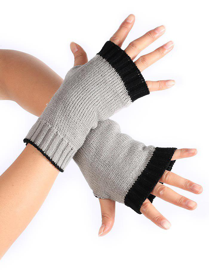 Buy Winter Color Block Fingerless Gloves