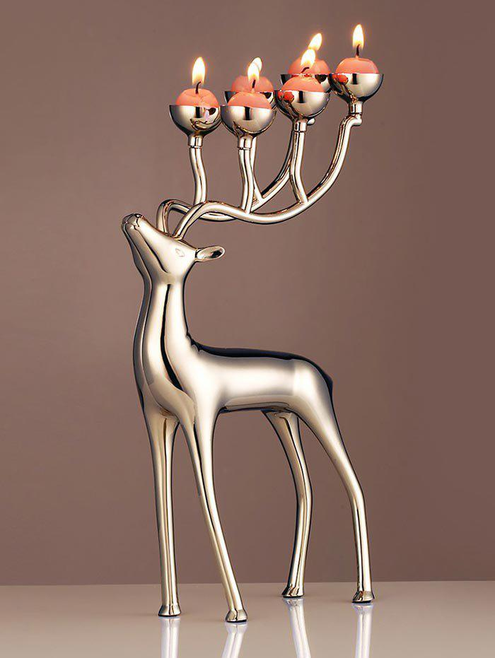 Outfits Christmas Elk Shape Candle Holder with Candles