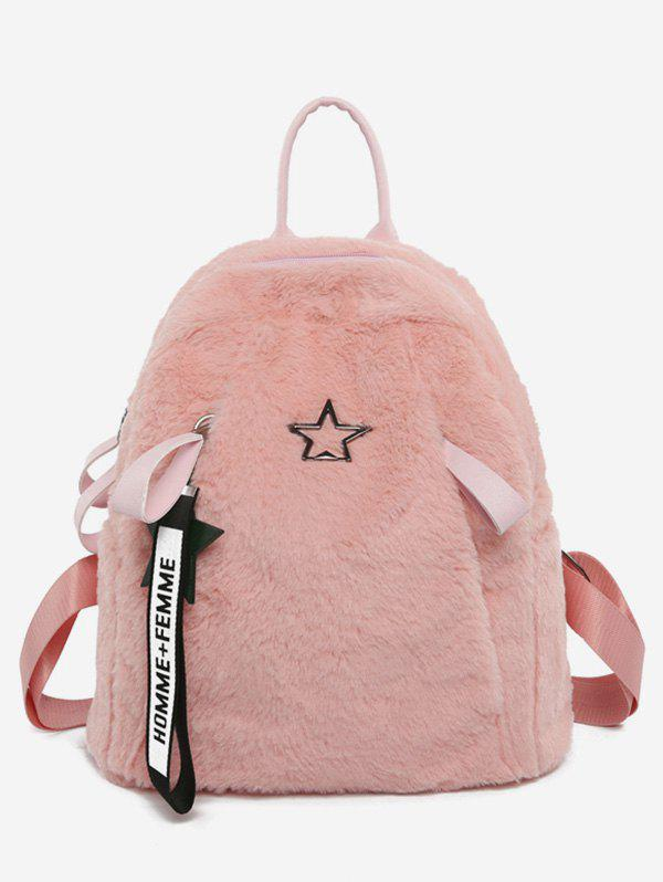 Affordable Star Pattern Fluffy School Backpack