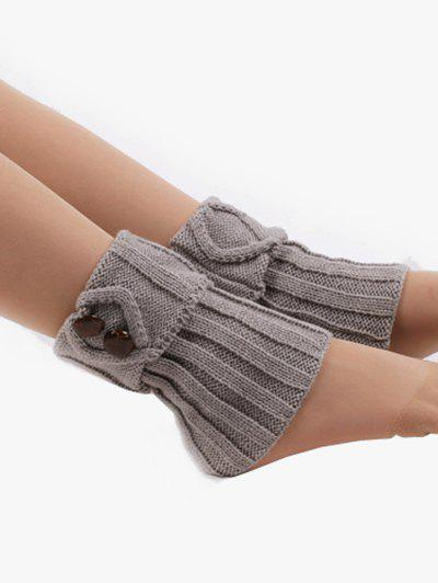 Hot Buttons Side Flanging Short Leg Warmers