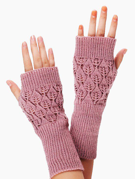 Outfits Winter Hollow Out Knitted Gloves