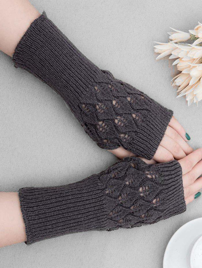 Chic Winter Hollow Out Knitted Gloves