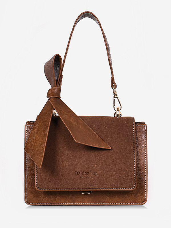 Shop Bowkont Letter Design Crossbody Bag