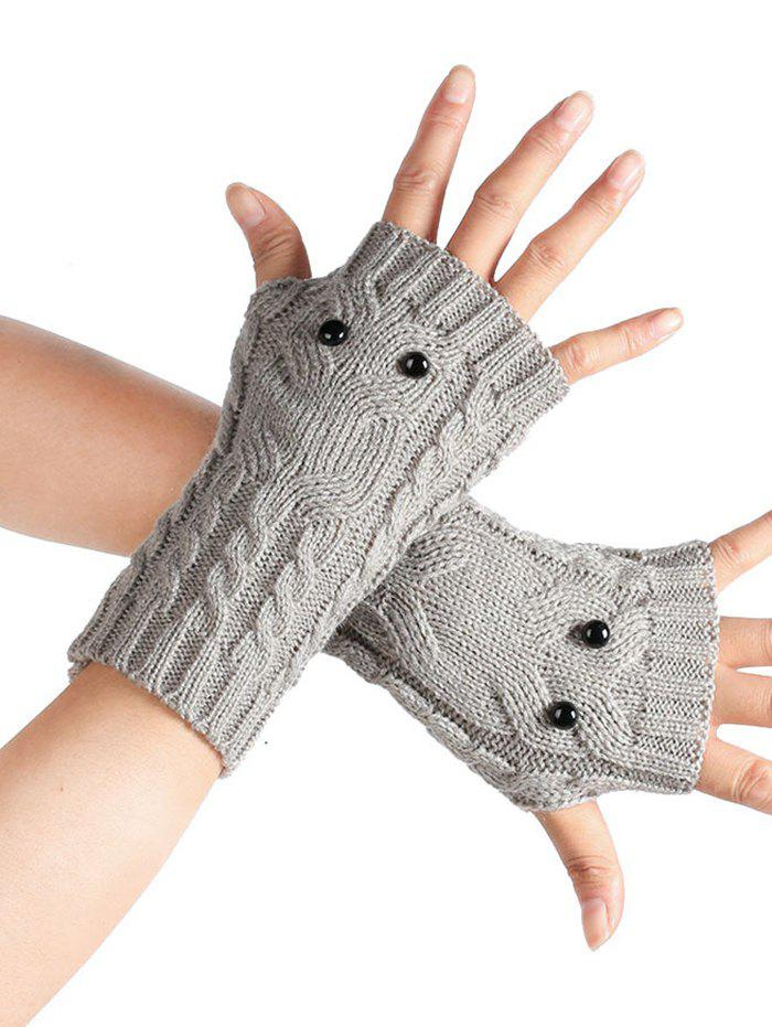 Buy Cartoon Owl Knitted Fingerless Gloves
