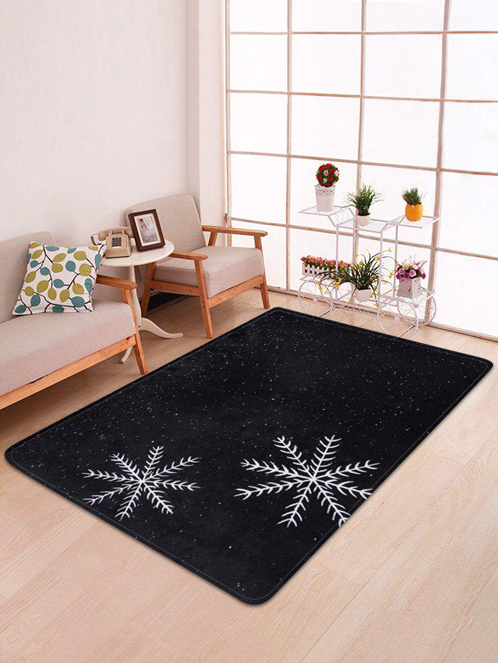 Buy Christmas Snowflake Printed Floor Mat