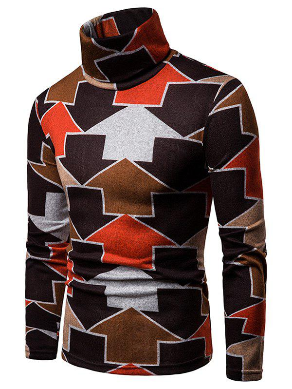 Discount Arrows Printed High Neck Sweater