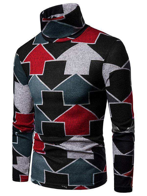 Trendy Arrows Printed High Neck Sweater