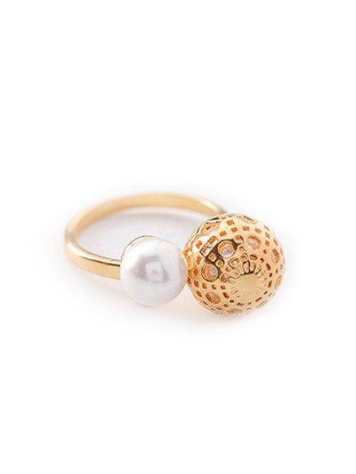 Buy Metal Ball Shape Hollow Out Ring