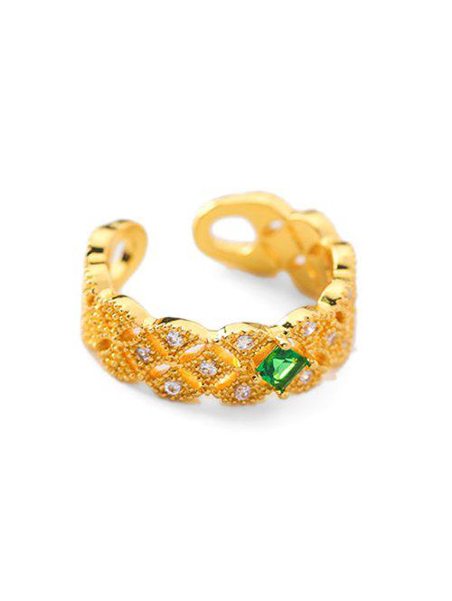 Outfit Faux Crystal Decoration Alloy Ring
