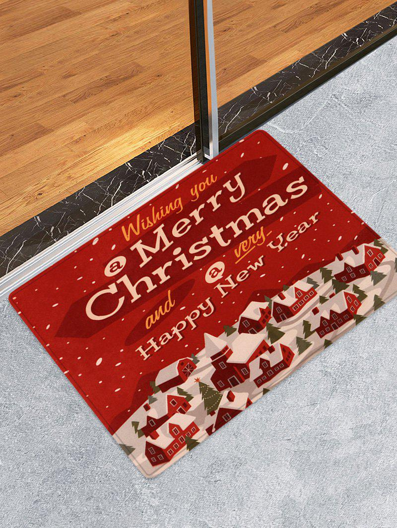 Best Merry Christmas House Printed Floor Mat