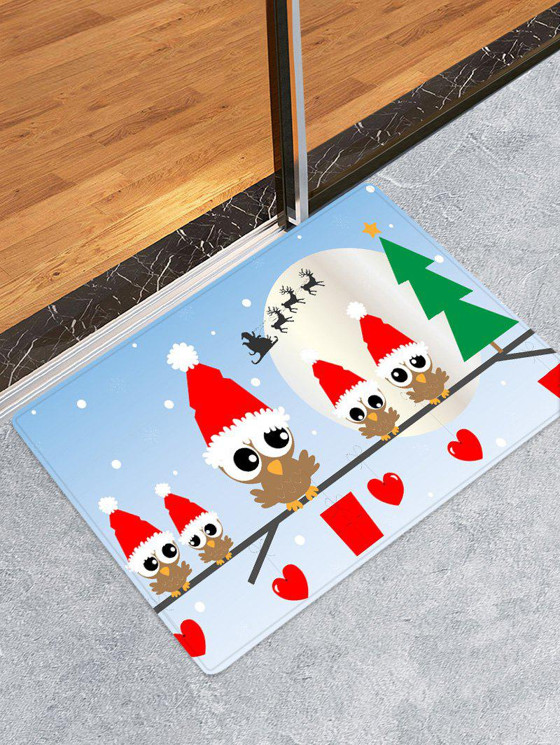 Discount Christmas Hat Bird Heart Printed Floor Mat