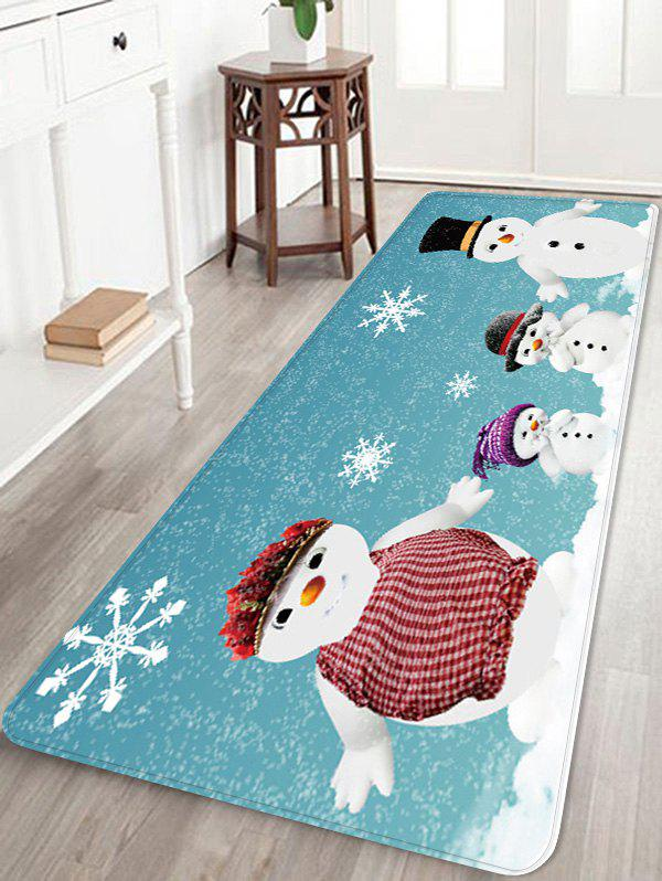 Outfit Christmas Snowman Family Pattern Water Absorption Area Rug