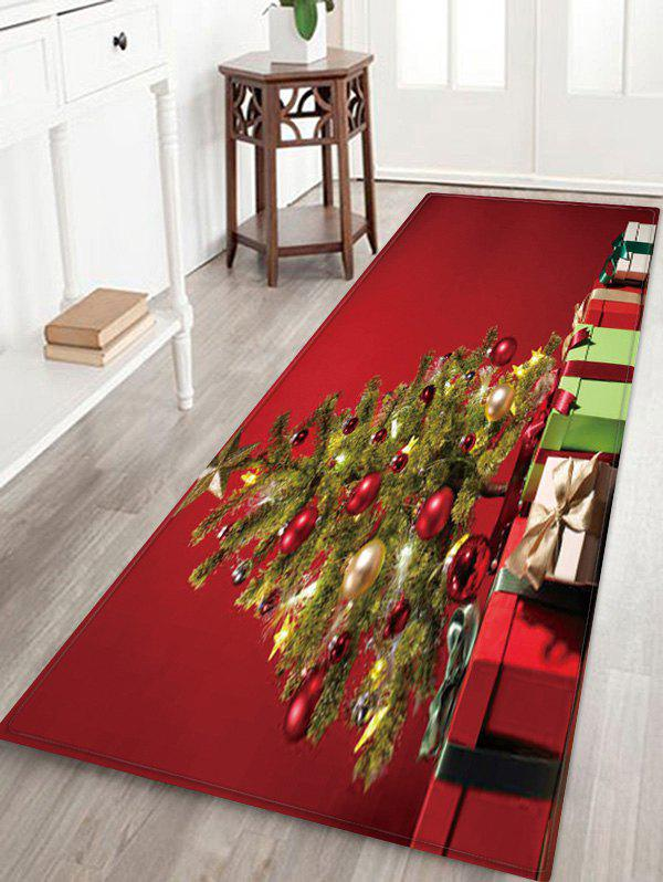 Affordable Christmas Tree Gifts Pattern Anti-skid Water Absorption Area Rug