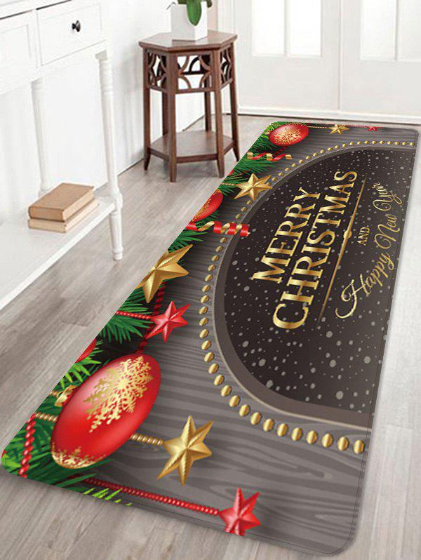 Outfit Merry Christmas Balls Pattern Water Absorption Floor Rug
