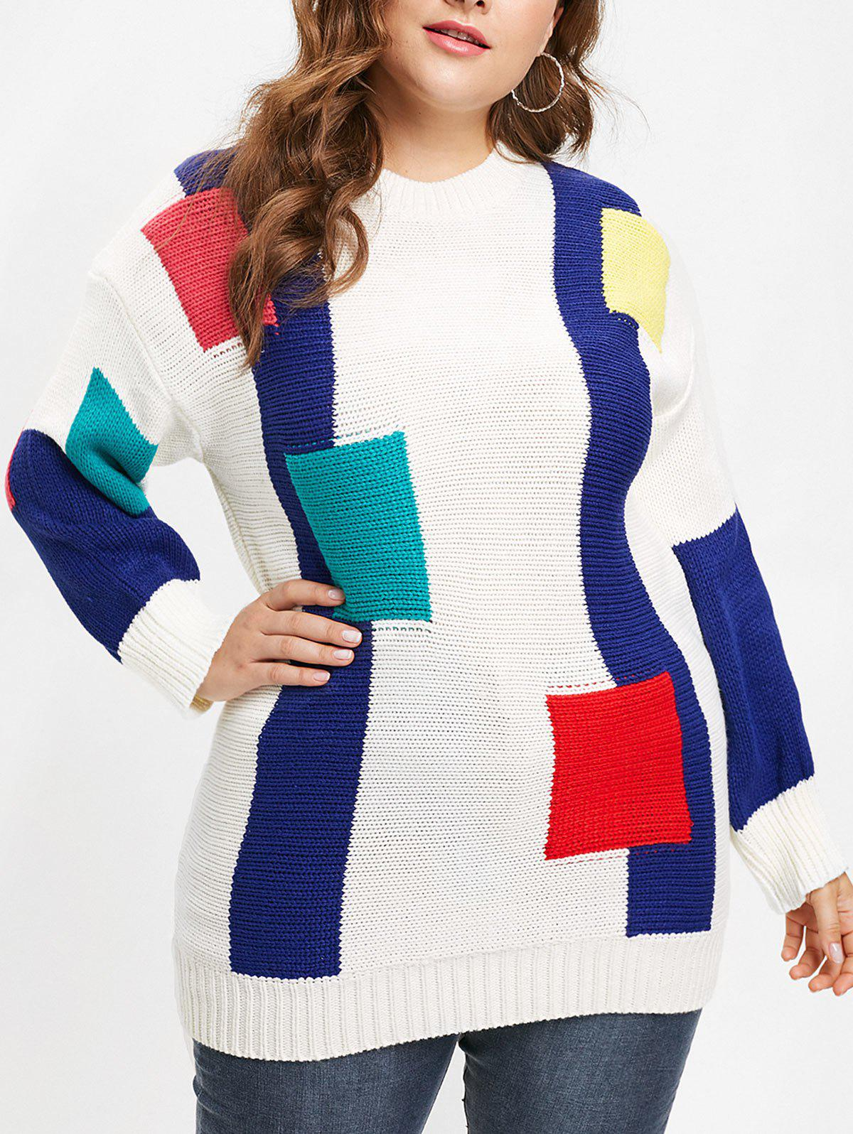 Outfits Plus Size Drop Shoulder Longline Sweater