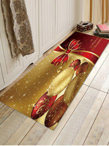 Christmas Balls Bowknot Pattern Water Absorption Area Rug