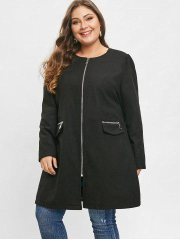 Plus Size Long Wool Coat