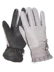 Bowknot Full Finger Non-slip Ski Gloves -