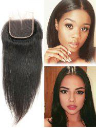 1Pc Straight Human Hair Malaysian Hair Weave with Closure -