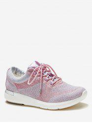 Knitted Breathable Lacing Running Sneakers -