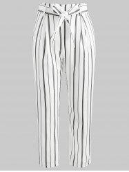 High Waisted Striped Cropped Pants -